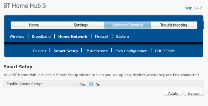 BT Home Hub 5 Smart Setup